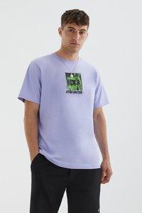 PULL&BEAR - STAY UNITED - Print T-shirt - light pink - 0
