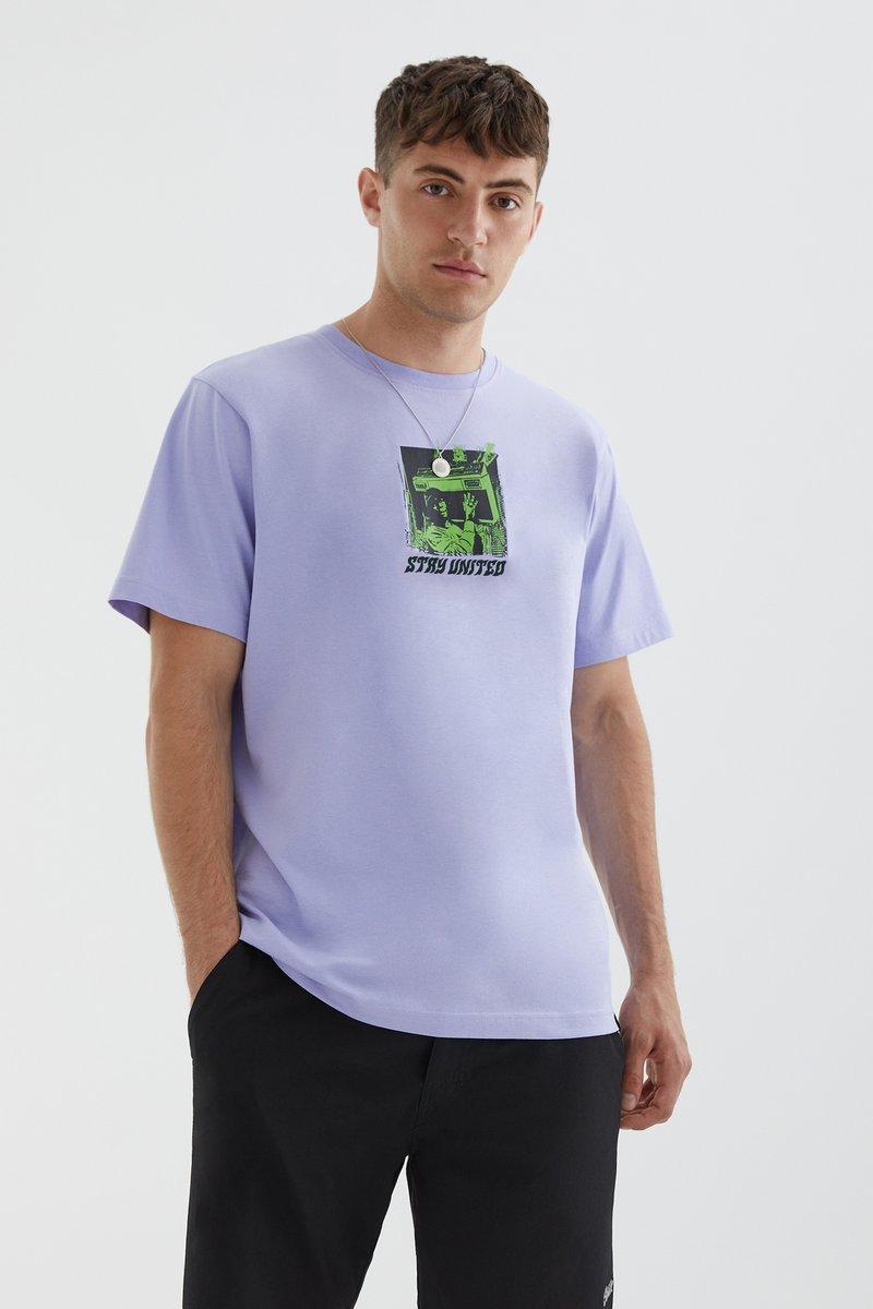 PULL&BEAR - STAY UNITED - Print T-shirt - light pink