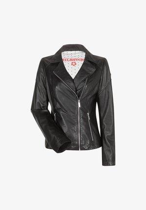 ODA - Leather jacket - schwarz