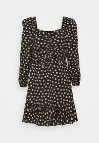 Miss Selfridge - DITSY POPLIN SQUARE NECK DRESS - Day dress - black - 4
