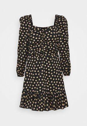 DITSY POPLIN SQUARE NECK DRESS - Day dress - black