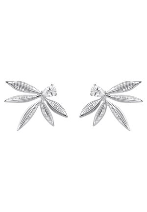 OHRRINGE 925 STERLINGSILBER - Earrings - weiß, silberfarben
