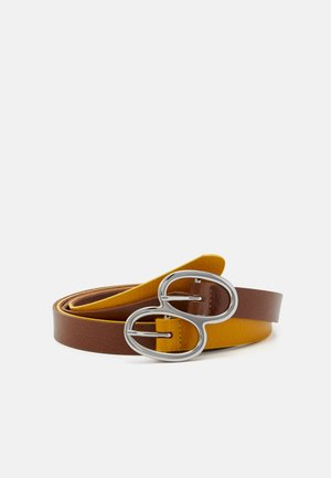 Belt - cognac/golden yellow