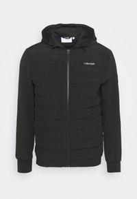 Calvin Klein - QUILTED MIX ZIP HOODIE - Light jacket - black - 0