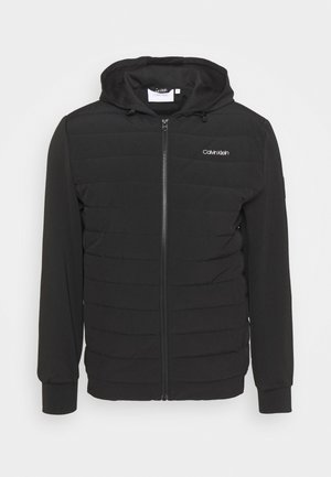QUILTED MIX ZIP HOODIE - Lett jakke - black