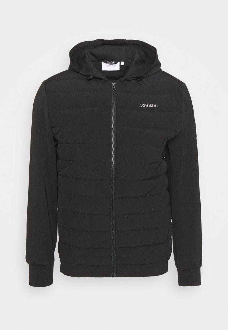 Calvin Klein - QUILTED MIX ZIP HOODIE - Light jacket - black