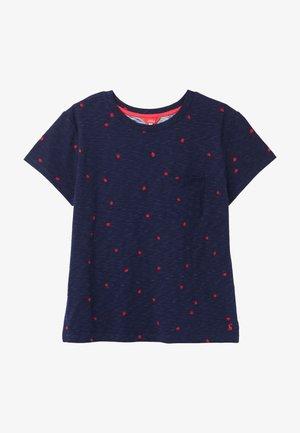 T-shirt med print - marineblau erdbeeren