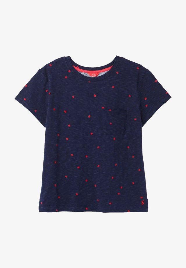 Camiseta estampada - marineblau erdbeeren