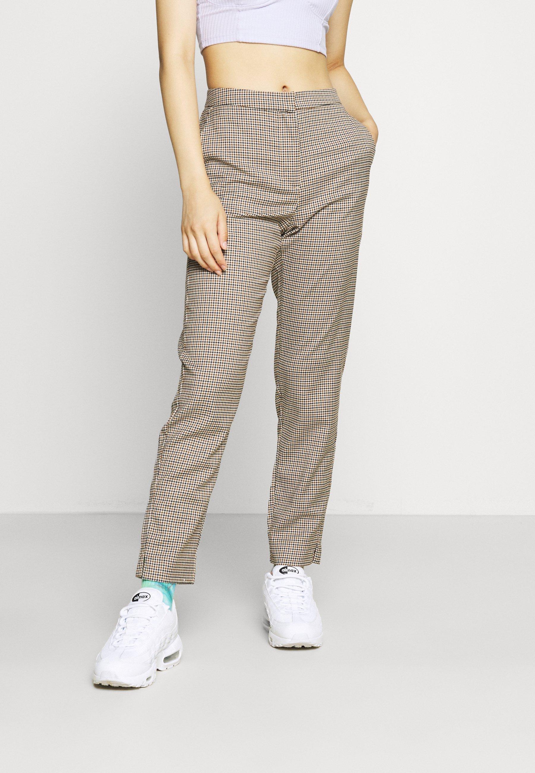 Women VMJANE TAP ANKLE AYA CHECK PANT - Trousers
