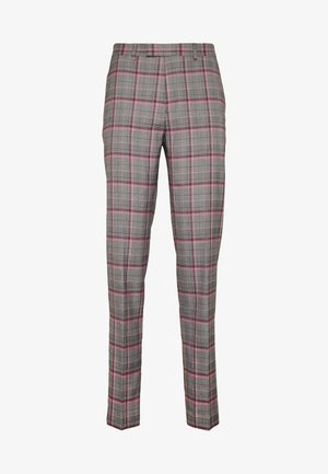 RAILEIGH CHECK TROUSER SLIM - Suit trousers - mid grey