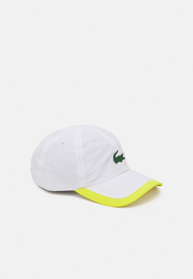 TENNIS UNISEX - Pet - white/pineapple