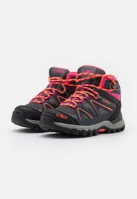 CMP - KIDS SHEDIR MID SHOE WP UNISEX - Hiking shoes - antracite/red fluo - 1