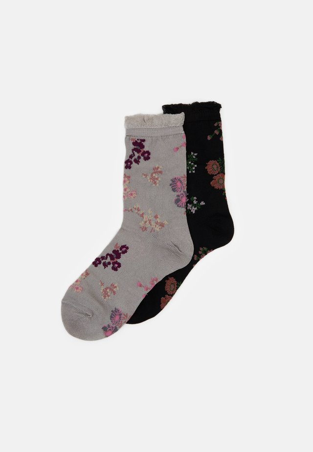 FLOWERWHIRL MYLA SOCK 2 PACK - Calcetines - black
