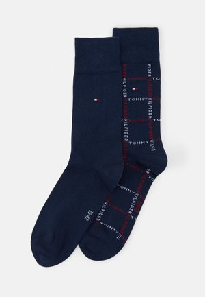 MEN SOCK GRID 2 PACK - Socks - dark blue