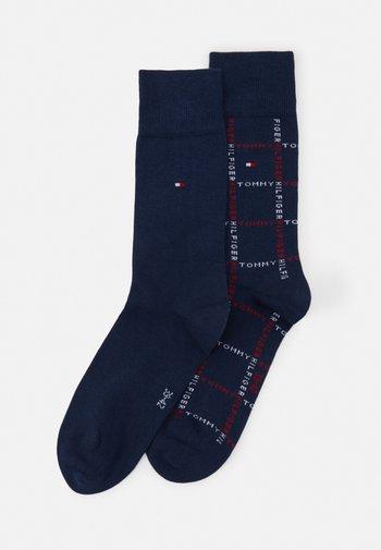 MEN SOCK GRID 2 PACK - Socks - dark blue