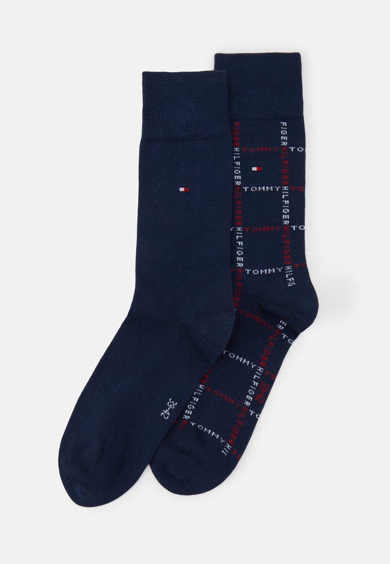 Tommy Hilfiger - MEN SOCK GRID 2 PACK - Socks - dark blue