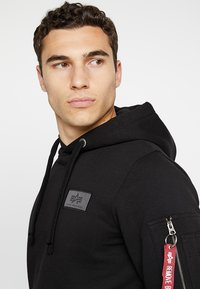 Alpha Industries - BACK PRINT HOODY - Felpa con cappuccio - black - 3