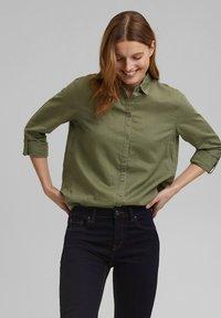 Esprit - CORE - Button-down blouse - light khaki - 0