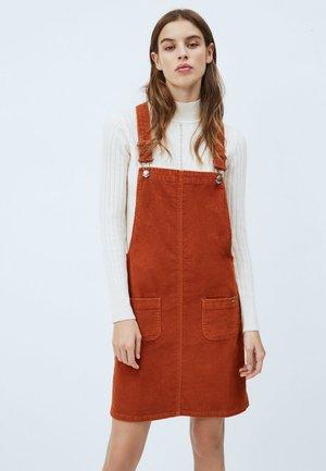 VESTA CORD - Day dress - dark brick
