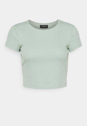 T-shirts - mottled light green