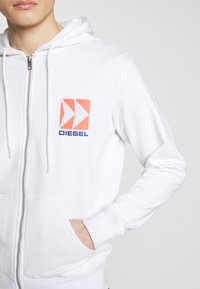 Diesel - BRANDON - Zip-up hoodie - white - 5