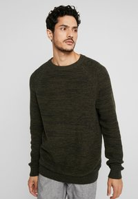 edc by Esprit - STRUCTURED  - Jumper - khaki green - 0