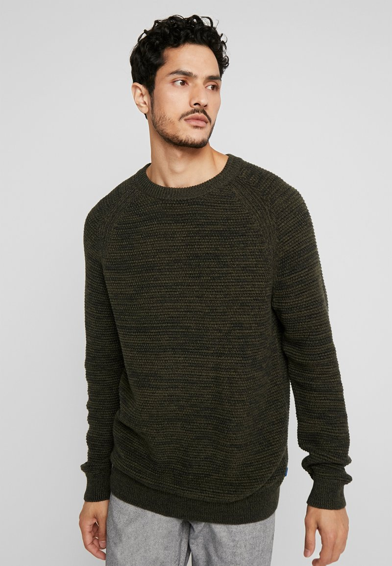edc by Esprit - STRUCTURED  - Jumper - khaki green