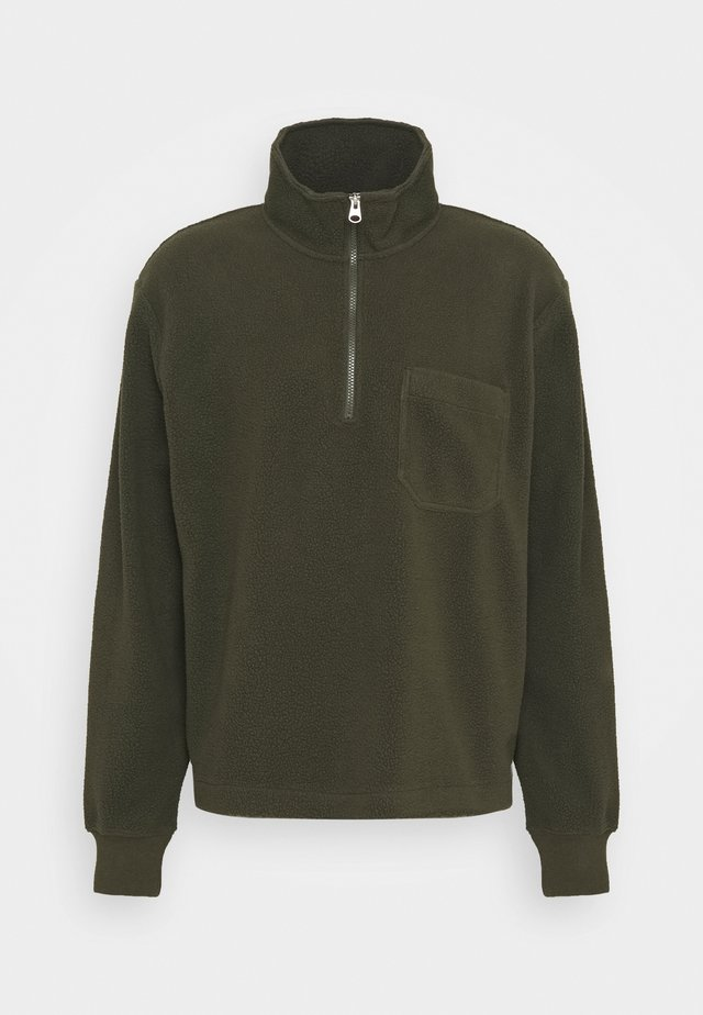 Fleecetröja - khaki green dark