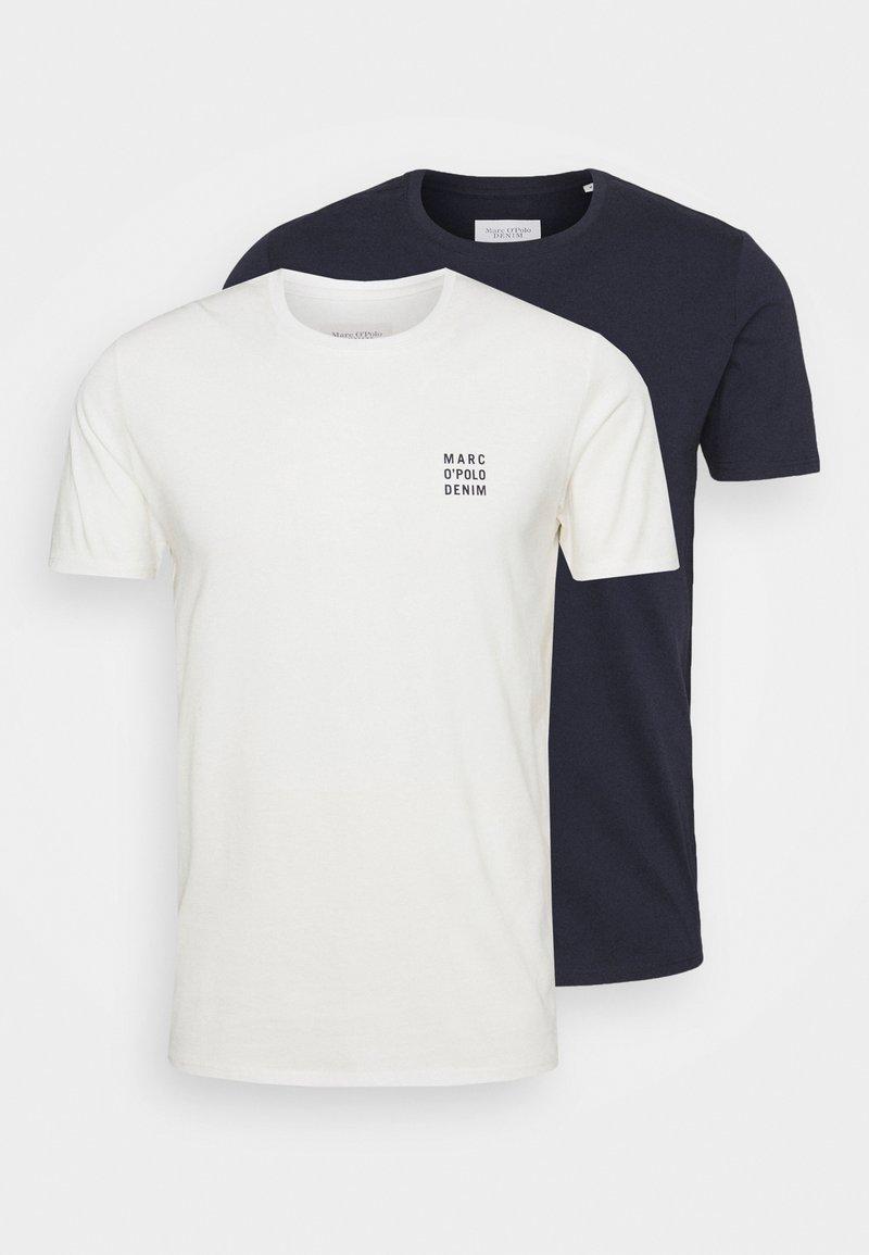 Marc O'Polo DENIM - SMALL CHEST LOGO 2 PACK - Basic T-shirt - scandinavian white/scandinavi