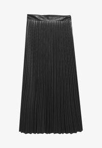 Stradivarius - PLISSIERTER ROCK - A-line skirt - black - 5