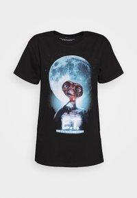 LADIES E. T. FACE TEE - Triko spotiskem - black