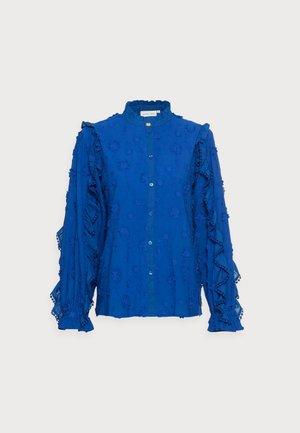 JOSEFIN BLOUSE - Button-down blouse - cobalt