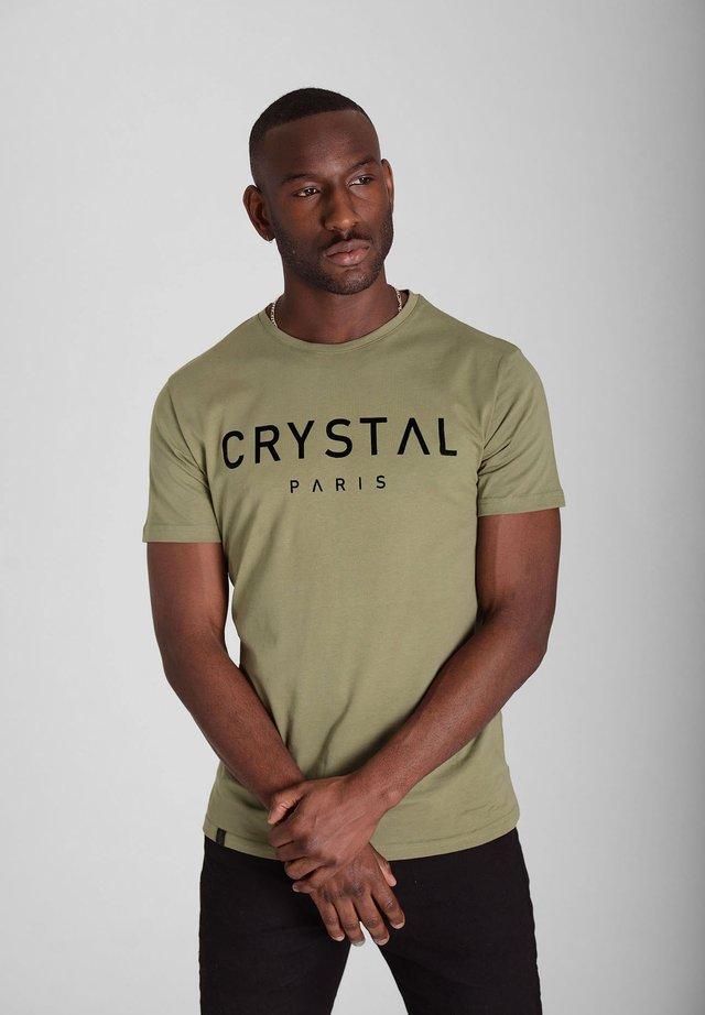 BASIC - Print T-shirt - khaki
