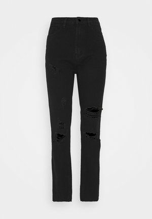 STRAIGHT DISTRESSED - Jeans straight leg - black