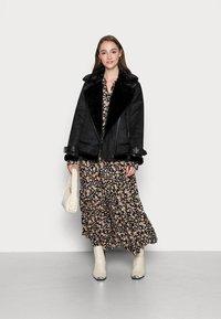 YAS - YASEMALLA LONG SHIRT DRESS  - Maxi dress - black emalla - 1
