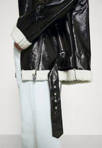 NA-KD - SHINY AVIATOR JACKET - Winter jacket - black/white - 7