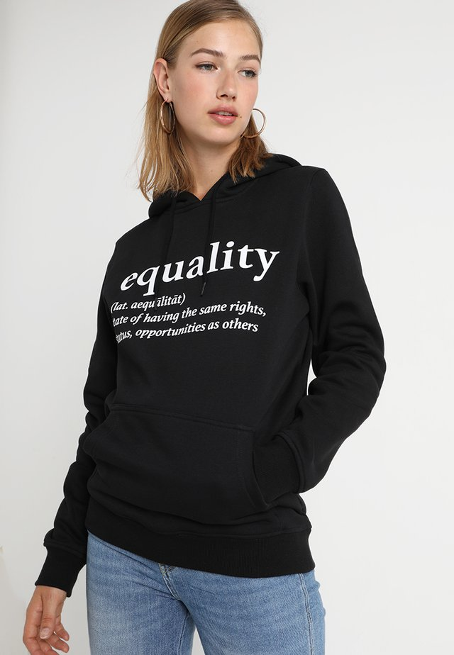 EQUALITY DEFINITION HOODY - Hoodie - black