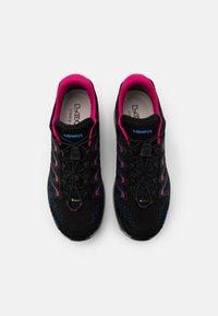 Lowa - MADDOX GTX - Hiking shoes - black/fuchsia - 3