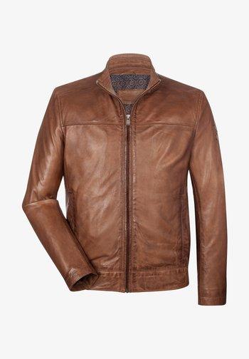LUCANO - Leather jacket - dunkel cognac