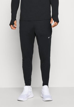 ELITE - Tracksuit bottoms - black/black/reflective silver