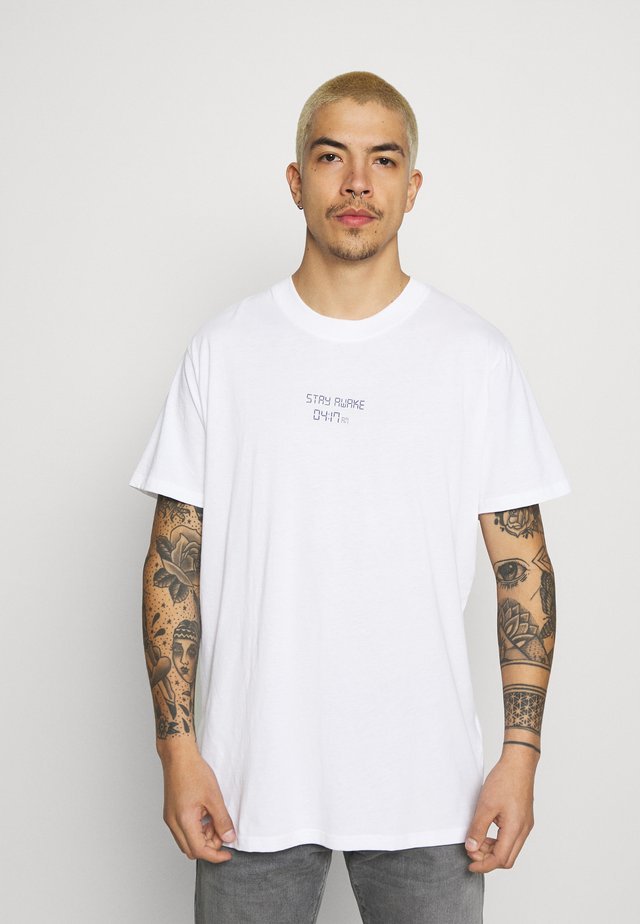 TIME UNISEX - Print T-shirt - white