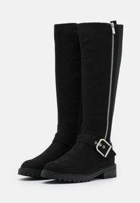New Look - DOLLY SIDE ZIP CHUNKY - Støvler - black - 2