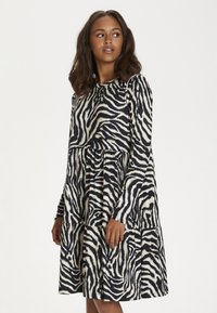 Kaffe - Day dress - black/beige zebra print - 5