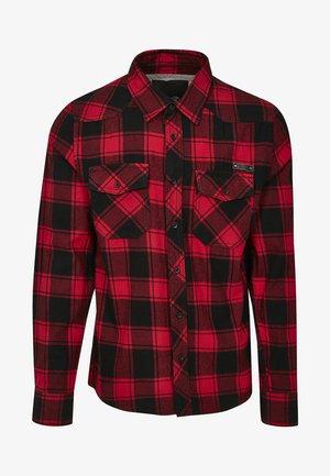 HERREN CHECKSHIRT - Shirt - black/red