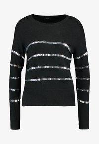 Vero Moda Petite - VMBRANASEQUINS O-NECK - Cardigan - black/silver - 4