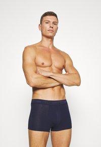 Calvin Klein Underwear - LOW RISE TRUNK 3 PACK - Shorty - lost blue/wild fern/raisin torte - 3