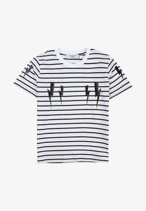 T-shirt con stampa - bianconero