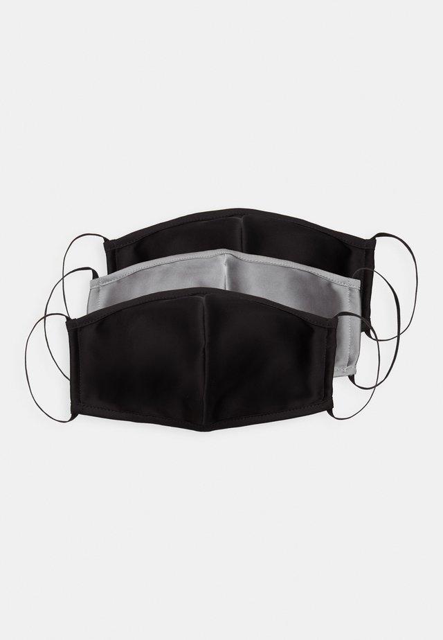 3 PACK - Stoffen mondkapje - black/grey