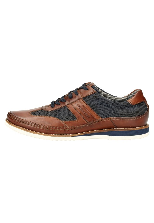 DANIEL HECHTER SNEAKER - Sneakers - dark brown / blue 6140