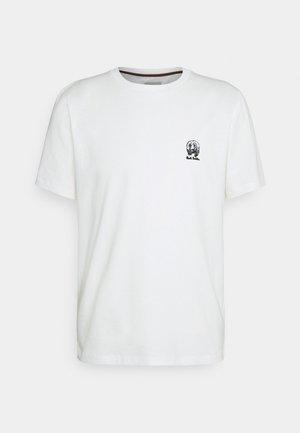 GENTS HOMER BADGE UNISEX - T-shirt z nadrukiem - white
